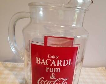 Bacardi and coke pitcher