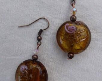 Ambre Rose - earrings