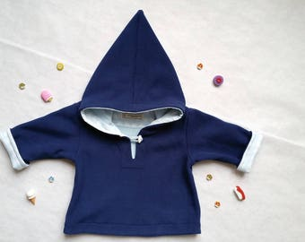 2 years Hoodie fleece and cotton Japanese