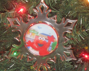 Elmo Personalized Acrylic SnowFlake Ornament *Free Personalization*