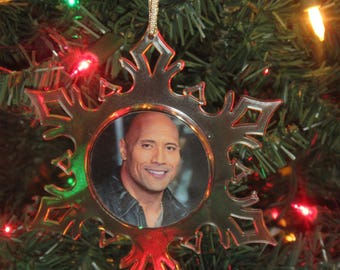 "Dwayne Johnson ""The Rock"" Acrylic SnowFlake Ornament *Free Personalization*"