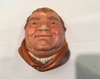 Legend Products Friar Tuck from Robin Hood England Chalkware Head Bust Collectible 1981 Sculpture UK Britain Wall Art