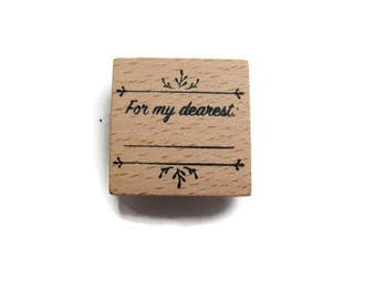 "Stamp wood ""For my dearest"" Scrapbooking, deco"