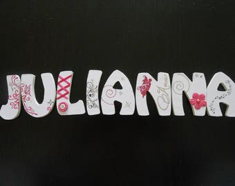 Personalized wooden name letters wooden JULIANNA