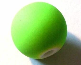 1 round Pearl gum neon 12mm AR287 purple Green