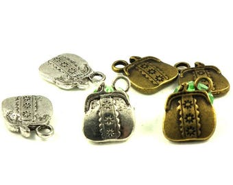 10 X 19mm A - B bag charms