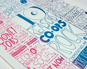 10 Reasons Co-ops Rock Poster, A2