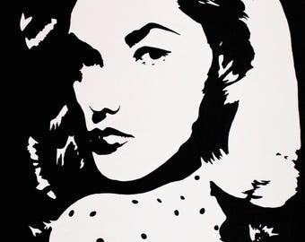 4x6 Lauren Bacall Art Print