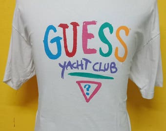Mega Sale!!!Vintage Guess T shirt Big Logo Spell Out T shirt Vintage 90's