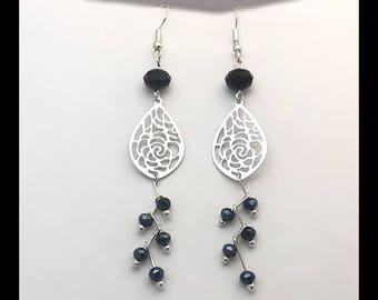 Earrings 'Black diamonds.