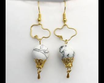 Earrings «howlite balloon.