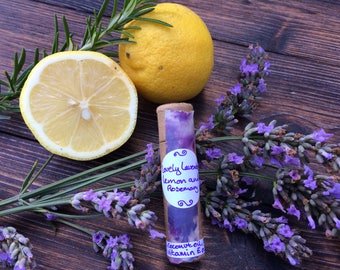 Lovely lavender, sage and rosemary lip balm
