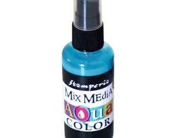 Light blue Aquacolor in spray bottle