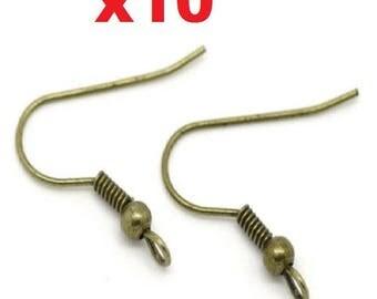 10 bronze ear hooks