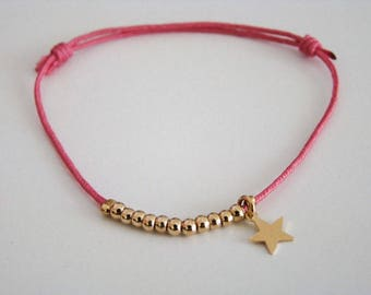 Bracelet link with tiny pearls