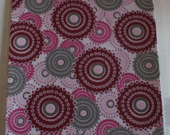 foam sheet decorated pink and grey circles