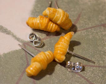 Chips croissants fimo 925 Silver
