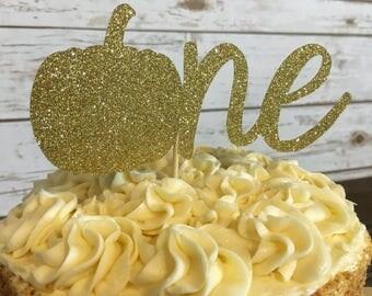 Pumpkin Cake Topper | Little Pumpkin Birthday | Fall Birthday Decorations