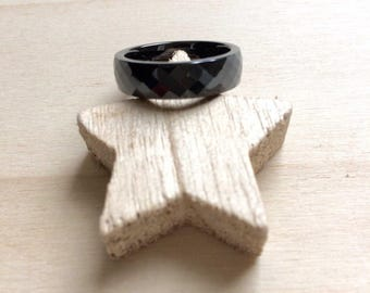 Black ceramic Ring