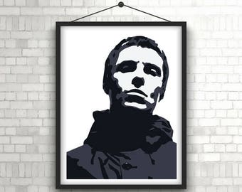 LIAM GALLAGHER  |  As You Were  |  Music Portrait Poster Print