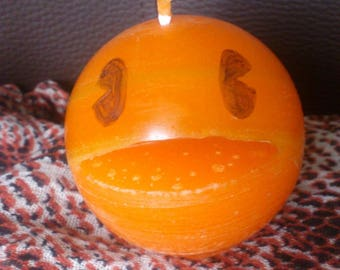 """Round orange candle gluttonous """"Pakupaku"""""""