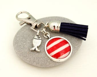 RED - PC007 SAILOR BAG CHARM KEY RING