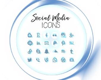 Neon Ice Melt Social Media Icons