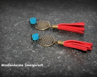 "BO ""Tassel vintage"" red and blue"