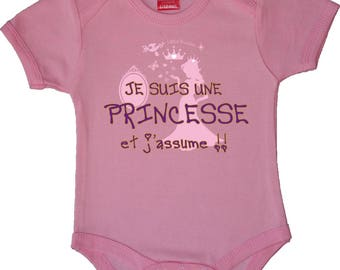 """Pink Bodysuit original """"Princess I assume"""""""