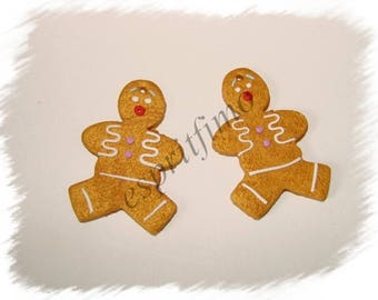 """""""Mr gingerbread"""" charm in polymer clay"""