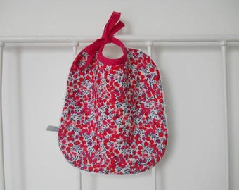 Liberty wiltshire red baby bib