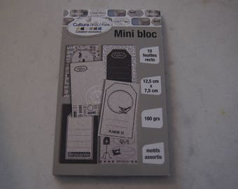 MINI BLOCK 10 SHEETS RECTO 12.5 X 7.5 CM
