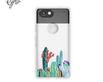 Pixel 2 xl case, cactus, pixel xl case, pixel 2 case, pixel case, clear case, cactus case, pixel case, case for pixel, google pixel 2 xl
