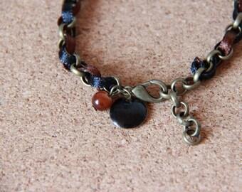 Bracelet • JADE • bronze / brown / black