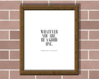 Abraham Lincoln's quote. Minimalist Decor, Printable Wall Art, Home decor. Motto. Typography Poster, Printable Art. Trending wall art
