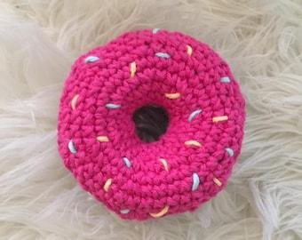 Crochet Donut Rattle (PINK)