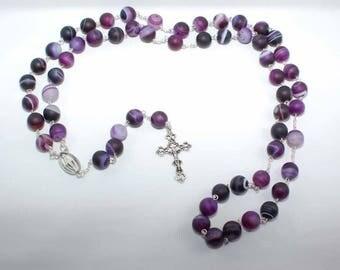 Purple Dream Agate Rosary