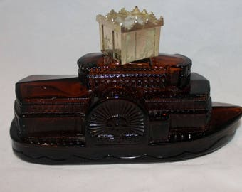 Avon Glass ferry boat aftershave bottle (empty)