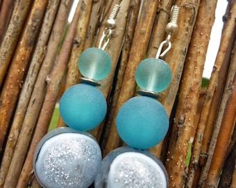 Sale earrings - blue