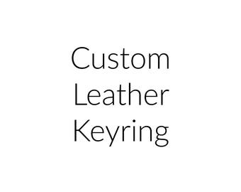 Custom Leather Keyring