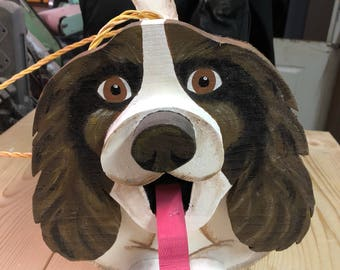 Spaniel Dog Birdhouse