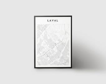 Laval Map Print
