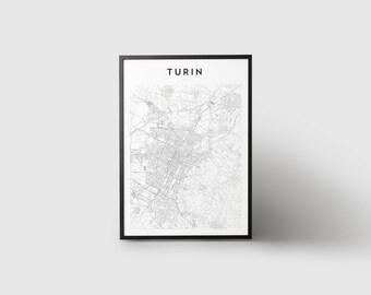 Turin Map Print