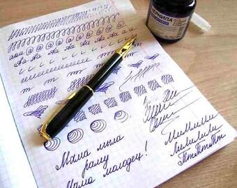 Calligraphy Pen Set, Calligraphy Pen, Fountain Pen, Black Fountain Pen, Planner Pen, Pen Gift Set, Black Ink Pen, Office Pen, Gift for Boss