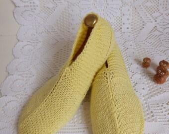 Night slippers Miss Alisson lemon