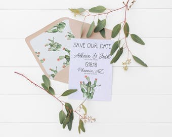 Cactus Save The Date Card