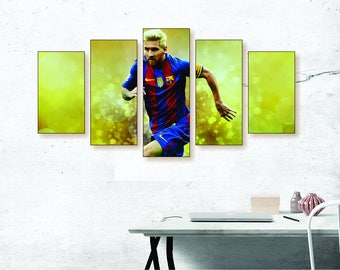 Lionel Messi Canvas Print Set - FC Barcelona Poster, Football Canvas Print, Football Wall Art, Messi Poster, Messi Wall Art, Messi Art Print