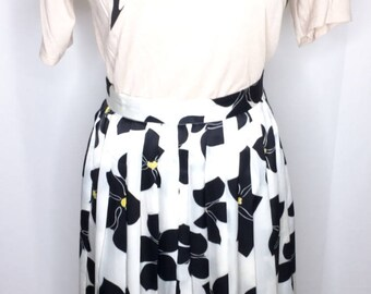 Vintage long Flower print Skirt