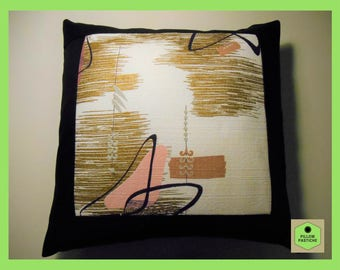 Mid Century Modern Pillow, Pillow Covers, Atomic Boomerang, Up-cycled, Vintage Barkcloth, Midcentury