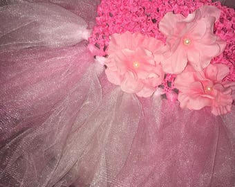 Princess Tutu with Flowers- For newborns to 2 yrs.